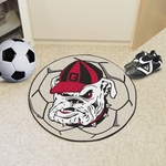 University of Georgia Soccer Ball Mat 27'' Diameter - Mascot Design [4954-FS-FAN]