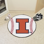 University of Illinois Baseball Mat 27'' Diameter [1956-FS-FAN]