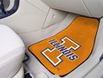 University of Illinois Carpeted Car Mat [5448-FS-FAN]