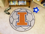 University of Illinois Soccer Ball Mat 27'' Diameter [1958-FS-FAN]