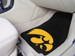University of Iowa Carpet Car Mat 2 Pc 18'' x 27'' [5449-FS-FAN]