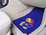 University of Kansas 2-piece Carpeted Car Mats 18'' x 27'' [5450-FS-FAN]