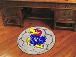 University of Kansas Soccer Ball Mat 27'' Diameter [3607-FS-FAN]
