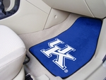 University of Kentucky 2-piece Carpeted Car Mats 18'' x 27'' [5451-FS-FAN]