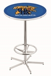 University of Kentucky 42''H Chrome Finish Bar Height Pub Table with Foot Ring [L216C42UKYCAT-FS-HOB]