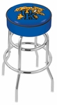 University of Kentucky 25'' Chrome Finish Double Ring Swivel Backless Counter Height Stool with 4'' Thick Seat [L7C125UKYCAT-FS-HOB]