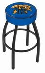 University of Kentucky 25'' Black Wrinkle Finish Swivel Backless Counter Height Stool with 4'' Thick Seat [L8B125UKYCAT-FS-HOB]