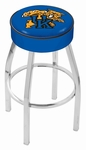 University of Kentucky 25'' Chrome Finish Swivel Backless Counter Height Stool with 4'' Thick Seat [L8C125UKYCAT-FS-HOB]