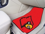 University of Louisville Carpet Car Mat 2 Pc 18'' x 27'' [5452-FS-FAN]