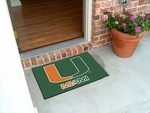 University of Miami Team Logo Starter Mat 19'' x 30'' [4463-FS-FAN]