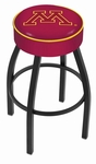 University of Minnesota 25'' Black Wrinkle Finish Swivel Backless Counter Height Stool with 4'' Thick Seat [L8B125MINNUN-FS-HOB]