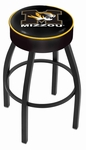 University of Missouri 25'' Black Wrinkle Finish Swivel Backless Counter Height Stool with 4'' Thick Seat [L8B125MIZZOU-FS-HOB]