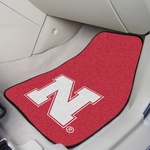 University of Nebraska Carpet Car Mat 2 Pc 18'' x 27'' [5466-FS-FAN]