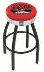 University of Nevada Las Vegas 25'' Black Wrinkle Finish Swivel Backless Counter Height Stool with Ribbed Accent Ring [L8B3C25UNEVLV-FS-HOB]