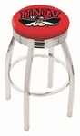 University of Nevada Las Vegas 25'' Chrome Finish Swivel Backless Counter Height Stool with 2.5'' Ribbed Accent Ring [L8C3C25UNEVLV-FS-HOB]