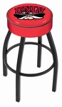 University of Nevada Las Vegas 25'' Black Wrinkle Finish Swivel Backless Counter Height Stool with 4'' Thick Seat [L8B125UNEVLV-FS-HOB]
