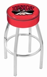 University of Nevada Las Vegas 25'' Chrome Finish Swivel Backless Counter Height Stool with 4'' Thick Seat [L8C125UNEVLV-FS-HOB]