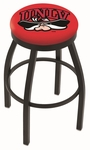 University of Nevada Las Vegas 25'' Black Wrinkle Finish Swivel Backless Counter Height Stool with Accent Ring [L8B2B25UNEVLV-FS-HOB]