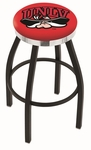 University of Nevada Las Vegas 25'' Black Wrinkle Finish Swivel Backless Counter Height Stool with Chrome Accent Ring [L8B2C25UNEVLV-FS-HOB]