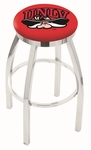 University of Nevada Las Vegas 25'' Chrome Finish Swivel Backless Counter Height Stool with Accent Ring [L8C2C25UNEVLV-FS-HOB]