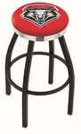 University of New Mexico 25'' Black Wrinkle Finish Swivel Backless Counter Height Stool with Chrome Accent Ring [L8B2C25NEWMEX-FS-HOB]