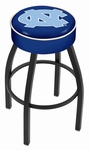 University of North Carolina 25'' Black Wrinkle Finish Swivel Backless Counter Height Stool with 4'' Thick Seat [L8B125NORCAR-FS-HOB]