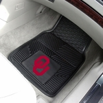 University of Oklahoma Vinyl Car Mat 2 Pc 18'' x 27'' [8765-FS-FAN]