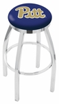 University of Pittsburgh 25'' Chrome Finish Swivel Backless Counter Height Stool with Accent Ring [L8C2C25PITTSB-FS-HOB]