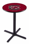 University of South Carolina 36''H Black Wrinkle Finish Counter Height Pub Table with X-Base [L211B36SOUCAR-FS-HOB]