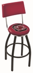 University of South Carolina 25'' Black Wrinkle Finish Swivel Counter Height Stool with Cushioned Back [L8B425SOUCAR-FS-HOB]