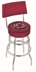 University of South Carolina 25'' Chrome Finish Swivel Counter Height Stool with Double Ring Base [L7C425SOUCAR-FS-HOB]