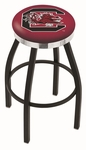 University of South Carolina 25'' Black Wrinkle Finish Swivel Backless Counter Height Stool with Chrome Accent Ring [L8B2C25SOUCAR-FS-HOB]