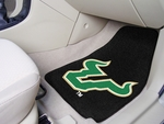 University of South Florida 2-piece Carpeted Car Mats 18'' x 27'' [5482-FS-FAN]