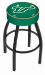 University of South Florida 25'' Black Wrinkle Finish Swivel Backless Counter Height Stool with 4'' Thick Seat [L8B125SOUFLA-FS-HOB]