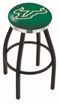 University of South Florida 25'' Black Wrinkle Finish Swivel Backless Counter Height Stool with Chrome Accent Ring [L8B2C25SOUFLA-FS-HOB]