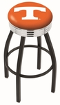 University of Tennessee 25'' Black Wrinkle Finish Swivel Backless Counter Height Stool with Ribbed Accent Ring [L8B3C25TENNES-FS-HOB]