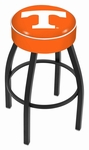 University of Tennessee 25'' Black Wrinkle Finish Swivel Backless Counter Height Stool with 4'' Thick Seat [L8B125TENNES-FS-HOB]