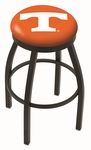 University of Tennessee 25'' Black Wrinkle Finish Swivel Backless Counter Height Stool with Accent Ring [L8B2B25TENNES-FS-HOB]