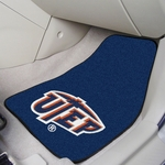 University of Texas - El Paso Carpet Car Mat 2 Pc 18'' x 27'' [8818-FS-FAN]