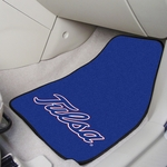 University of Tulsa Carpet Car Mat 2 Pc 18'' x 27'' [5487-FS-FAN]