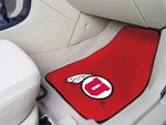 University of Utah 2-piece Carpeted Car Mats 18'' x 27'' [5488-FS-FAN]
