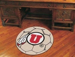 University of Utah Soccer Ball Mat 27'' Diameter [3129-FS-FAN]