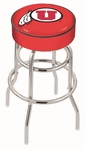 University of Utah 25'' Chrome Finish Double Ring Swivel Backless Counter Height Stool with 4'' Thick Seat [L7C125UTAHUN-FS-HOB]