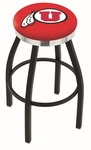 University of Utah 25'' Black Wrinkle Finish Swivel Backless Counter Height Stool with Chrome Accent Ring [L8B2C25UTAHUN-FS-HOB]