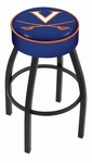 University of Virginia 25'' Black Wrinkle Finish Swivel Backless Counter Height Stool with 4'' Thick Seat [L8B125VRGNIA-FS-HOB]