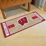University of Wisconsin Basketball Court Runner 30'' x 72'' [8176-FS-FAN]