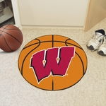 University of Wisconsin Team Logo Basketball Mat 27'' Diameter [1643-FS-FAN]