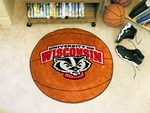 University of Wisconsin Team Mascot Basketball Mat 27'' Diameter [5178-FS-FAN]