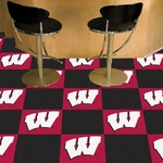 University of Wisconsin Carpet Team Tiles - 18'' x 18'' Tiles - Set of 20 [8518-FS-FAN]