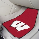 University of Wisconsin Team Logo Carpet Car Mat 2 Pc 18'' x 27'' [5492-FS-FAN]